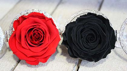 rosa stabilizzata rossa e nera